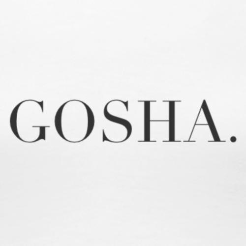 GOSHA. (BLACK) - Women's Premium T-Shirt