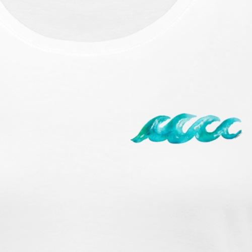 Watercolour Waves Graphic - Women's Premium T-Shirt