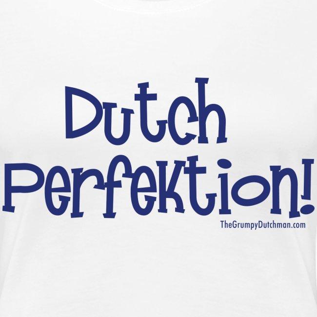 Dutch Perfektion blue lettering
