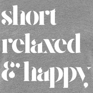 Short Relaxed Happy Tee - Women's Premium T-Shirt