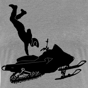Snowmobil Stunts - Women's Premium T-Shirt