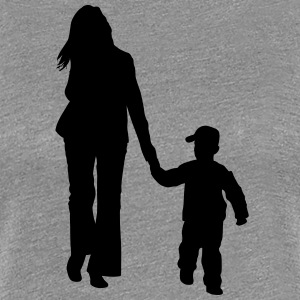 mother and son silhouettes - Women's Premium T-Shirt