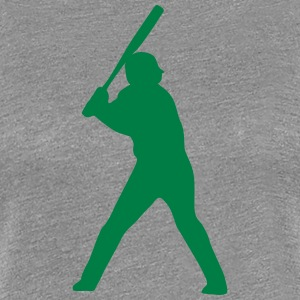 Baseball player silhouette 2 - Women's Premium T-Shirt