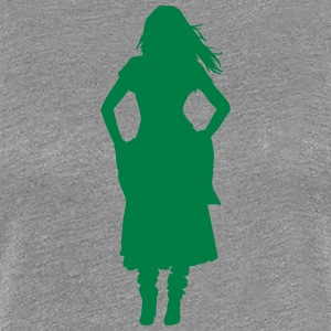 Vector Asian Silhouette - Women's Premium T-Shirt