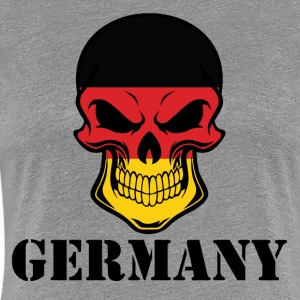 German Flag Skull Germany - Women's Premium T-Shirt