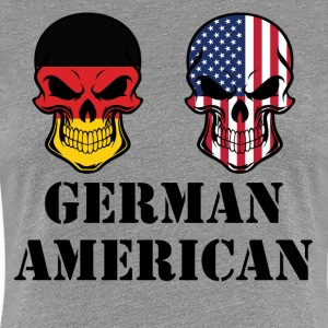 German American Flag Skulls - Women's Premium T-Shirt