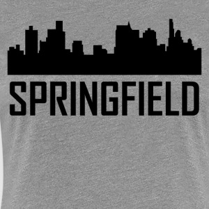 Springfield Illinois City Skyline - Women's Premium T-Shirt