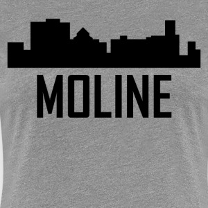 Moline Illinois City Skyline - Women's Premium T-Shirt
