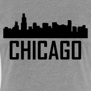 Chicago Illinois City Skyline - Women's Premium T-Shirt