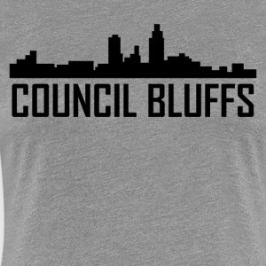 Council Bluffs Iowa City Skyline - Women's Premium T-Shirt