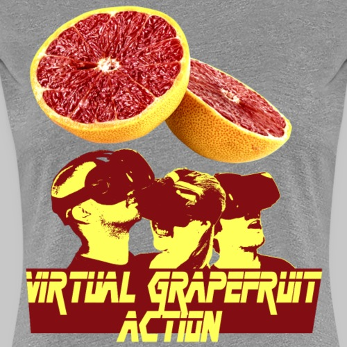 Virtual Grapefruit Action - Women's Premium T-Shirt