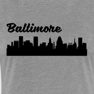 Baltimore MD Skyline - Women's Premium T-Shirt