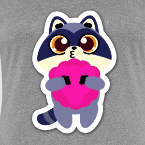 raccoon funny - Women's Premium T-Shirt