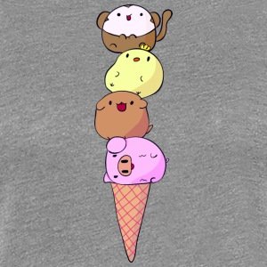 FUNNY ANIMAL ICE CREAM - Women's Premium T-Shirt