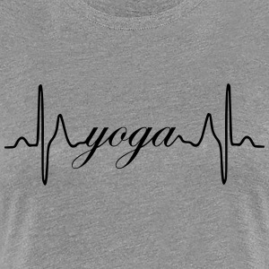 Yoga ECG Heartbeat - Women's Premium T-Shirt