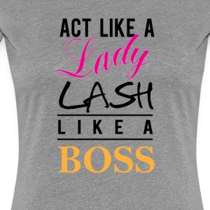 lash like a boss BK - Women's Premium T-Shirt