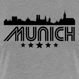 Retro Munich Skyline - Women's Premium T-Shirt