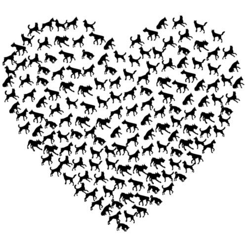 Dog Heart - Women's Premium T-Shirt