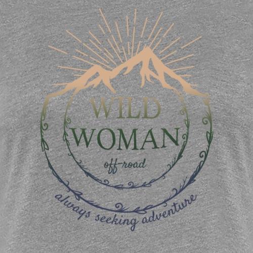 Wild Woman Color Logo - Women's Premium T-Shirt