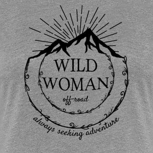 Wild Woman Black Logo - Women's Premium T-Shirt