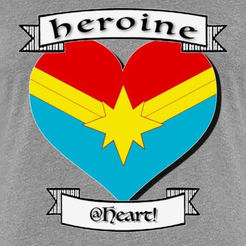 heroine at heart - Women's Premium T-Shirt