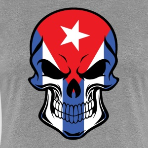 Cuban Flag Skull - Women's Premium T-Shirt