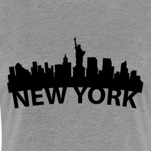 Arc Skyline Of New York City NY - Women's Premium T-Shirt