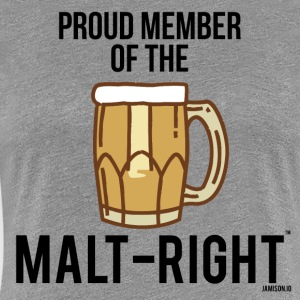 MALT-RIGHT CLEAR BACKGROUND - Women's Premium T-Shirt
