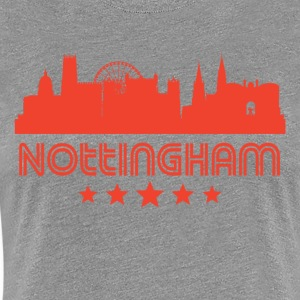 Retro Nottingham Skyline - Women's Premium T-Shirt
