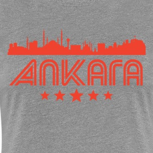 Retro Ankara Skyline - Women's Premium T-Shirt