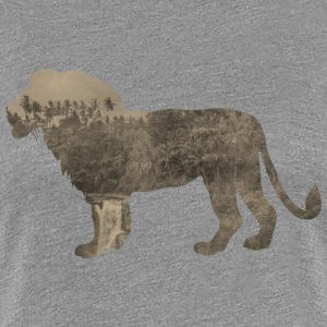 Silhouette Jungle Series Lion - Women's Premium T-Shirt