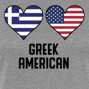 Greek American Heart Flags - Women's Premium T-Shirt