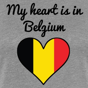 My Heart Is In Belgium - Women's Premium T-Shirt