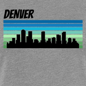 Retro Denver Skyline - Women's Premium T-Shirt