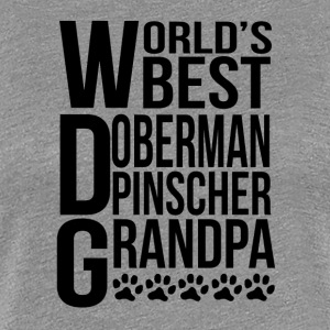 World's Best Doberman Pinscher Grandpa - Women's Premium T-Shirt