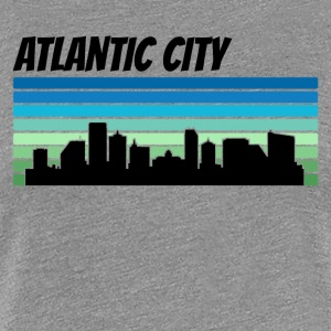 Retro Atlantic City Skyline - Women's Premium T-Shirt