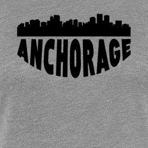 Anchorage AK Cityscape Skyline - Women's Premium T-Shirt