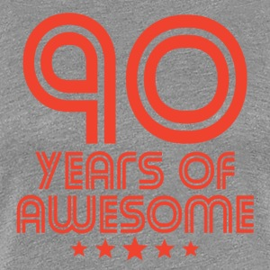 90 Years Of Awesome 90th Birthday - Women's Premium T-Shirt
