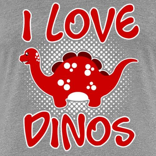 I love Dinos v1 - Women's Premium T-Shirt