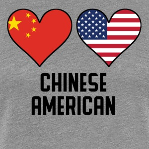 Chinese American Heart Flags - Women's Premium T-Shirt