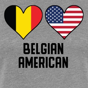 Belgian American Heart Flags - Women's Premium T-Shirt
