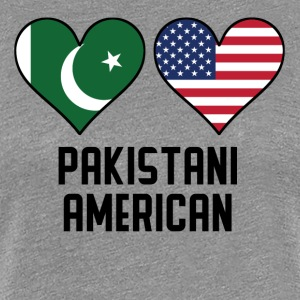 Pakistani American Heart Flags - Women's Premium T-Shirt