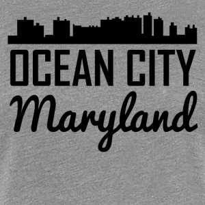 Ocean City Maryland Skyline - Women's Premium T-Shirt