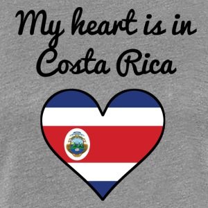 My Heart Is In Costa Rica - Women's Premium T-Shirt