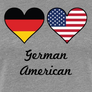 German American Flag Hearts - Women's Premium T-Shirt
