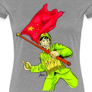 Chinese Soldier With Grenade - Women's Premium T-Shirt