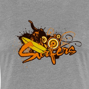 Surfers street art - Women's Premium T-Shirt
