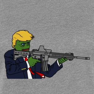 Trump Pepe w/ Rifle - Women's Premium T-Shirt