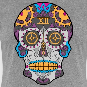 Clock Sugar Skull - Women's Premium T-Shirt