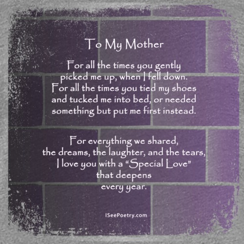 To My Mother - Poetry Gifts - Distressed Wall - Women's Premium T-Shirt